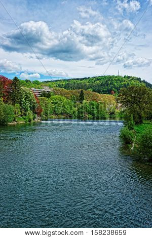 Doubs River In Bourgogne Franche Comte France