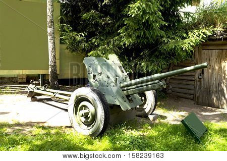 the photograph 45 mm cannon the Second World War