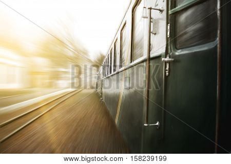 Amazing journey by train. Trains on the move.