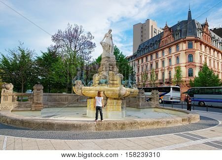 Fairy Tale Fountain In Frankfurt