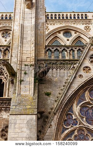 Fragment Of Cathedral Of Our Lady Of Bayeux In Normandy