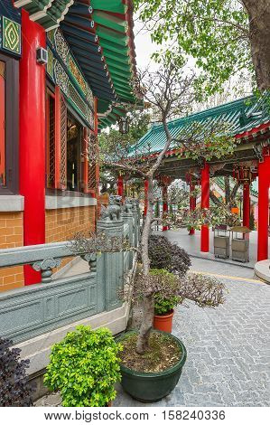 Fragment Of Wong Tai Sin Temple Of Kowloon In Hong Kong
