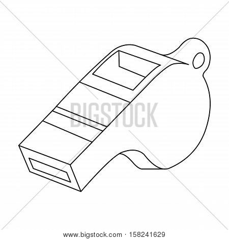 Whistle icon outline. Single sport icon from the big fitness, healthy, workout outline.