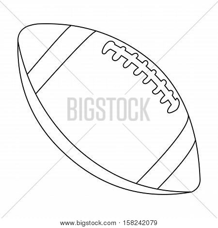 Rugby ball icon outline. Single sport icon from the big fitness, healthy, workout outline.