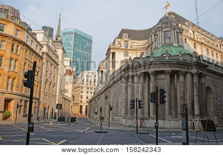 Headquarters Of Bank Of England In The City Of London