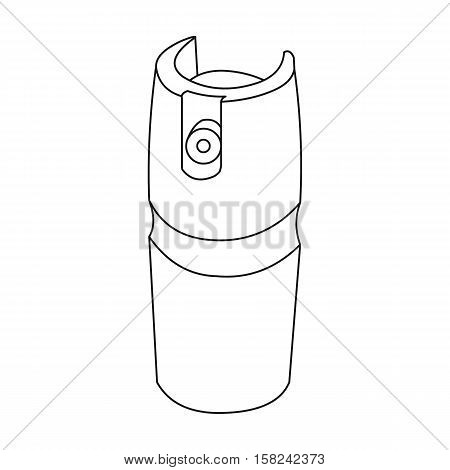Gas canister icon outline. Single weapon icon from the big ammunitio, arms outline.
