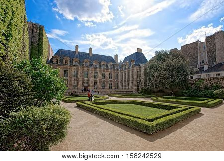 Hotel De Sully And Garden In Paris