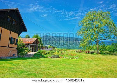 House At Yverdon In Jura Nord Vaudois Vaud Switzerland