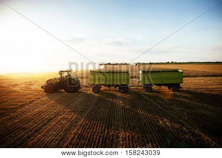 Tractor On A Countryside