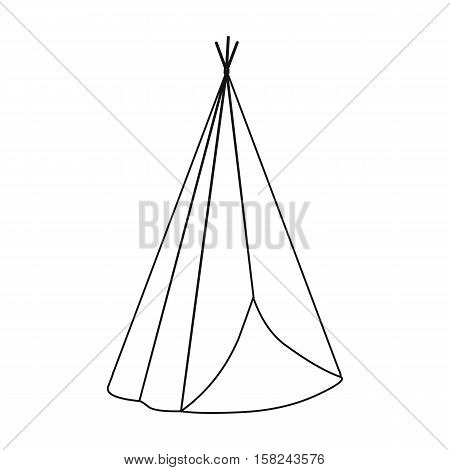Wigwam icon outline. Singe western icon from the wild west outline.