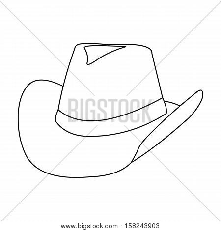 Cowboy hat icon outline. Singe western icon from the wild west outline.
