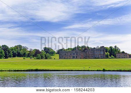 Leeds Castle In Island On Lake In Kent Uk