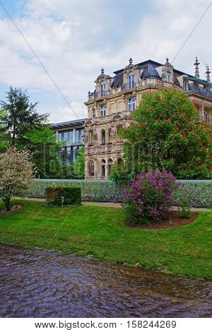 Lichtentaler Allee Park And River In Baden Baden In Germany