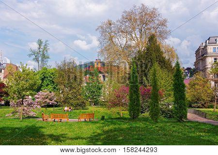 Lichtentaler Allee Park In Baden Baden In Germany