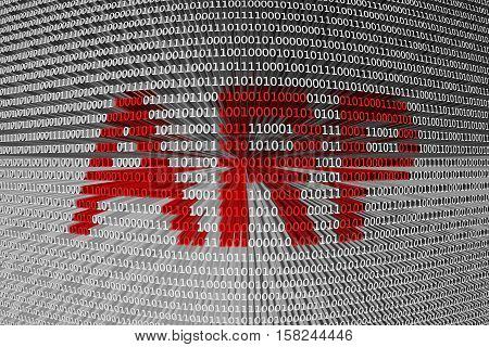 ARP is represented as a binary code 3d illustration