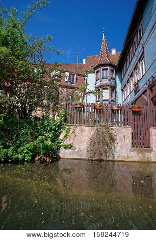 Little Venice At Colmar In Alsace In France