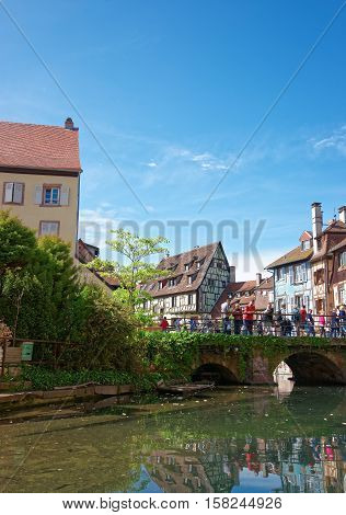 Little Venice Quarter Colmar In Alsace In France