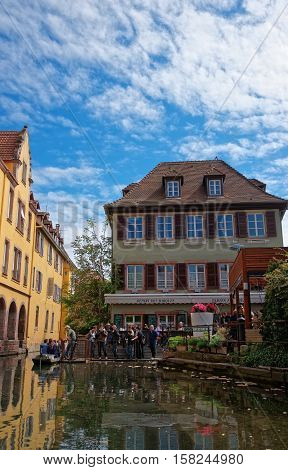 Little Venice Quarter In Colmar Alsace France