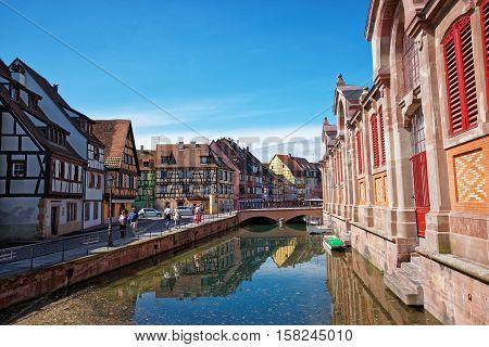 Little Venice Quarter In Colmar In Alsace France