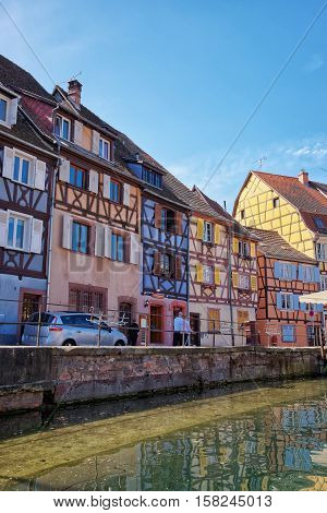 Little Venice Quarter In Colmar In Alsace In France