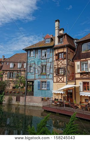 Little Venice Quarter Of Colmar In Alsace In France