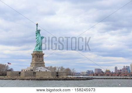 American symbol - Statue of Liberty. New York USA.