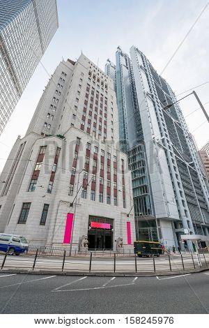 Modern Skyscrapers On Hong Kong Island