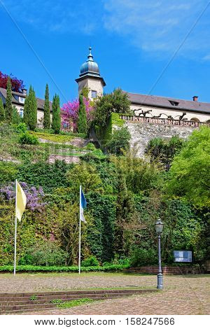 New Castle And Its Terrace In Baden Baden Germany