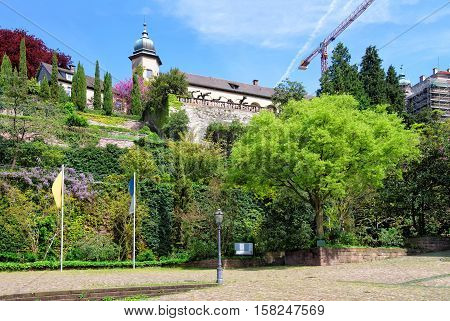 New Castle And Its Terrace In Baden Baden