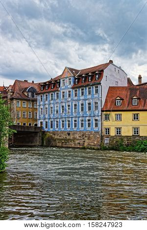 Old City And Regnitz River In Little Venice Bamberg