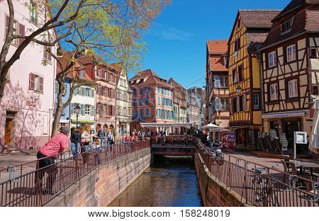 Old City Center In Colmar Alsace France