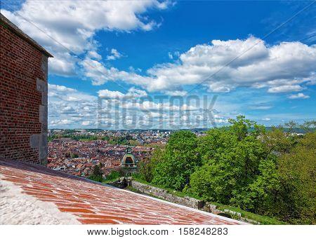 Old City Of Besancon Bourgogne Franche Comte France