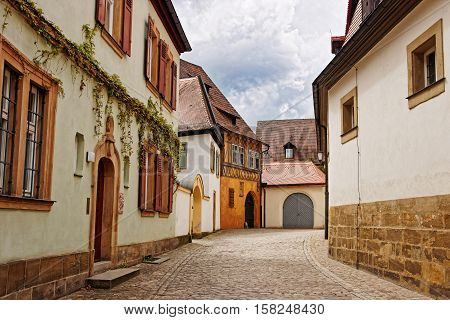 Old Houses In Bamberg City Center Of Germany