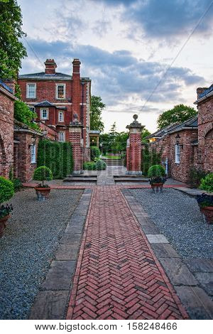Old Manor And Its Pathway In York In England