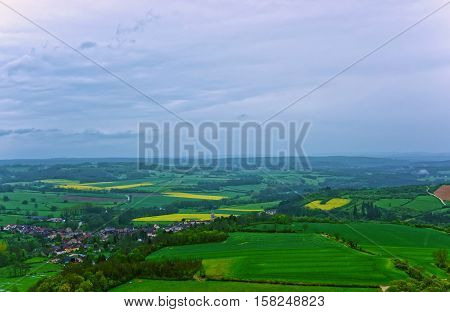Panorama Of Vezelay Bourgogne Franche Comte Region France