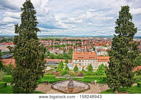 Panoramic View On Bamberg City Center Upper Franconia In Germany
