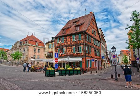 Pfeffel Restaurant In Colmar In Alsace In France