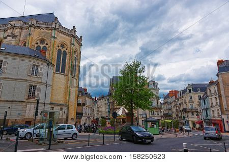 Place Sainte Croix In Angers In Loire Valley In France