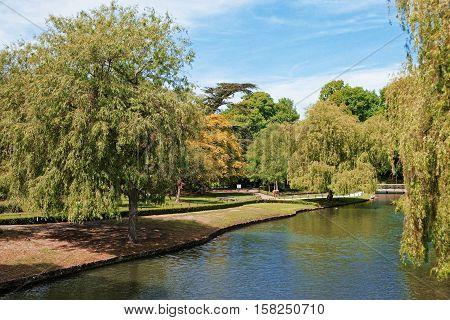 Pond At Leeds Castle In Kent Uk