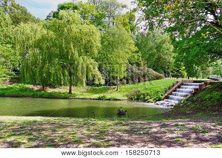 Pond At Leeds Castle Of Kent Uk