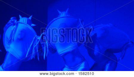 Dancers In Blue