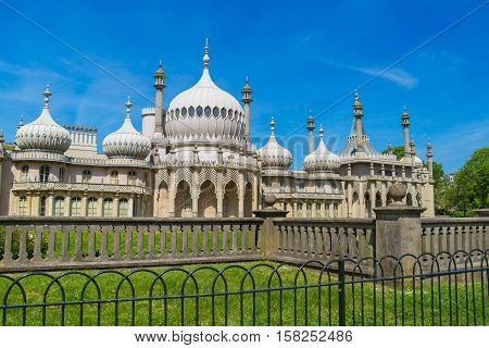 Royal Pavilion In Brighton In East Sussex Uk