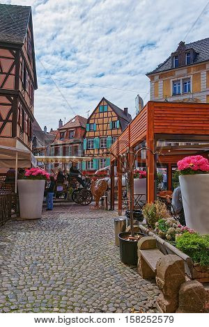 Rue De Turenne In Colmar In Alsace In France