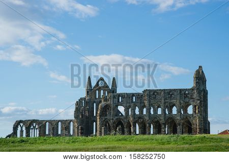 Ruins Of Whitby Abbey In North Yorkshire The Uk