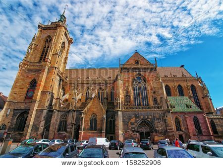 Saint Martin Church In Colmar In Alsace France