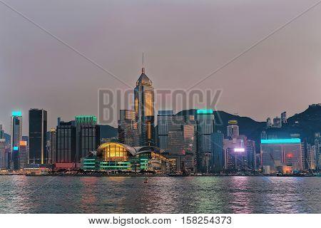 Skyline And Victoria Harbor Hong Kong