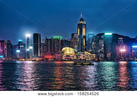 Skyline At The Victoria Harbor In Hk
