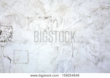 White Plastered Brick Wall Texture. Whitewash Brick Wall Seamless Surface. Abstract White Wash Background. White Brickwall With Scratched Plaster. White Painted Retro Concrete Wall Built Structure.