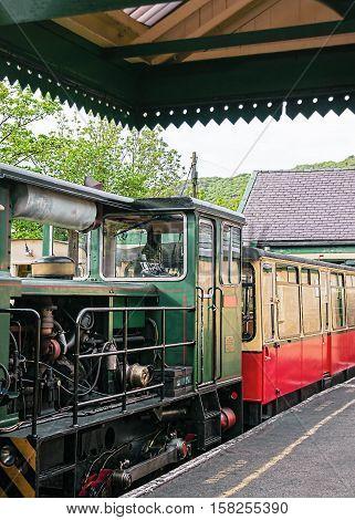 Snowdon Mountain Railway Train In Snowdonia