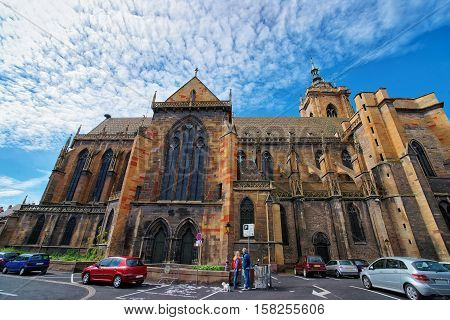 St Martin Church In Colmar In Alsace France